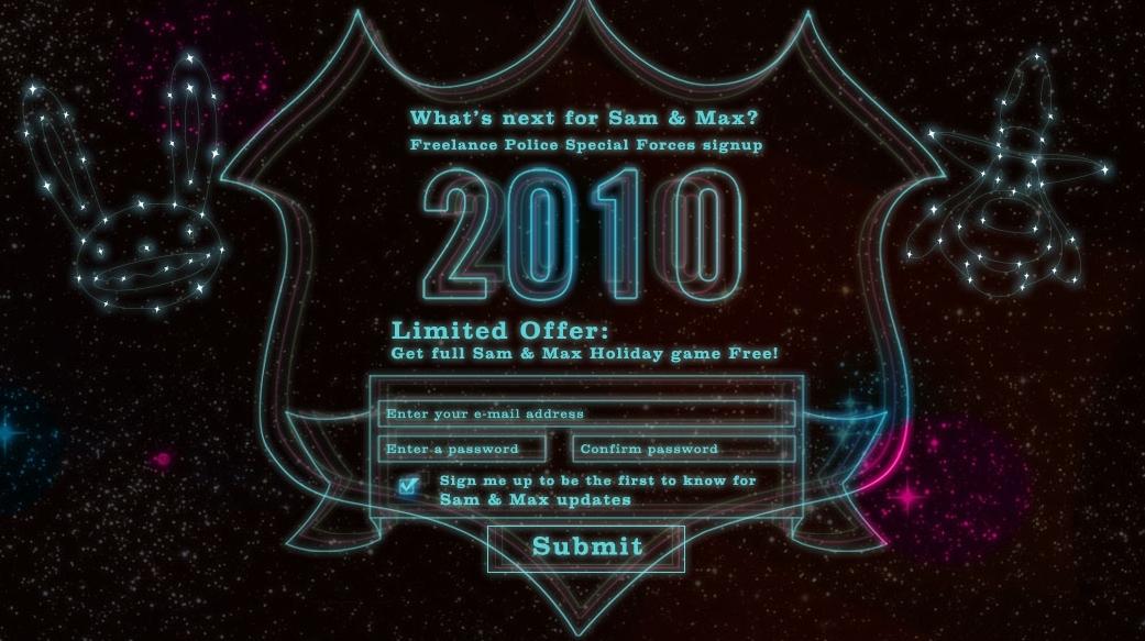 Imagini cu site-ul noului joc Sam & Max