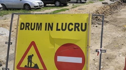 Şantiere întârziate pe două străzi principale din Sibiu