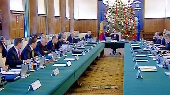 Şedinţa de Guvern a Cabinetului Boc 4