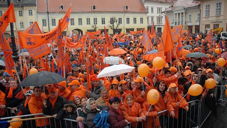 Judeţul Sibiu este portocaliu