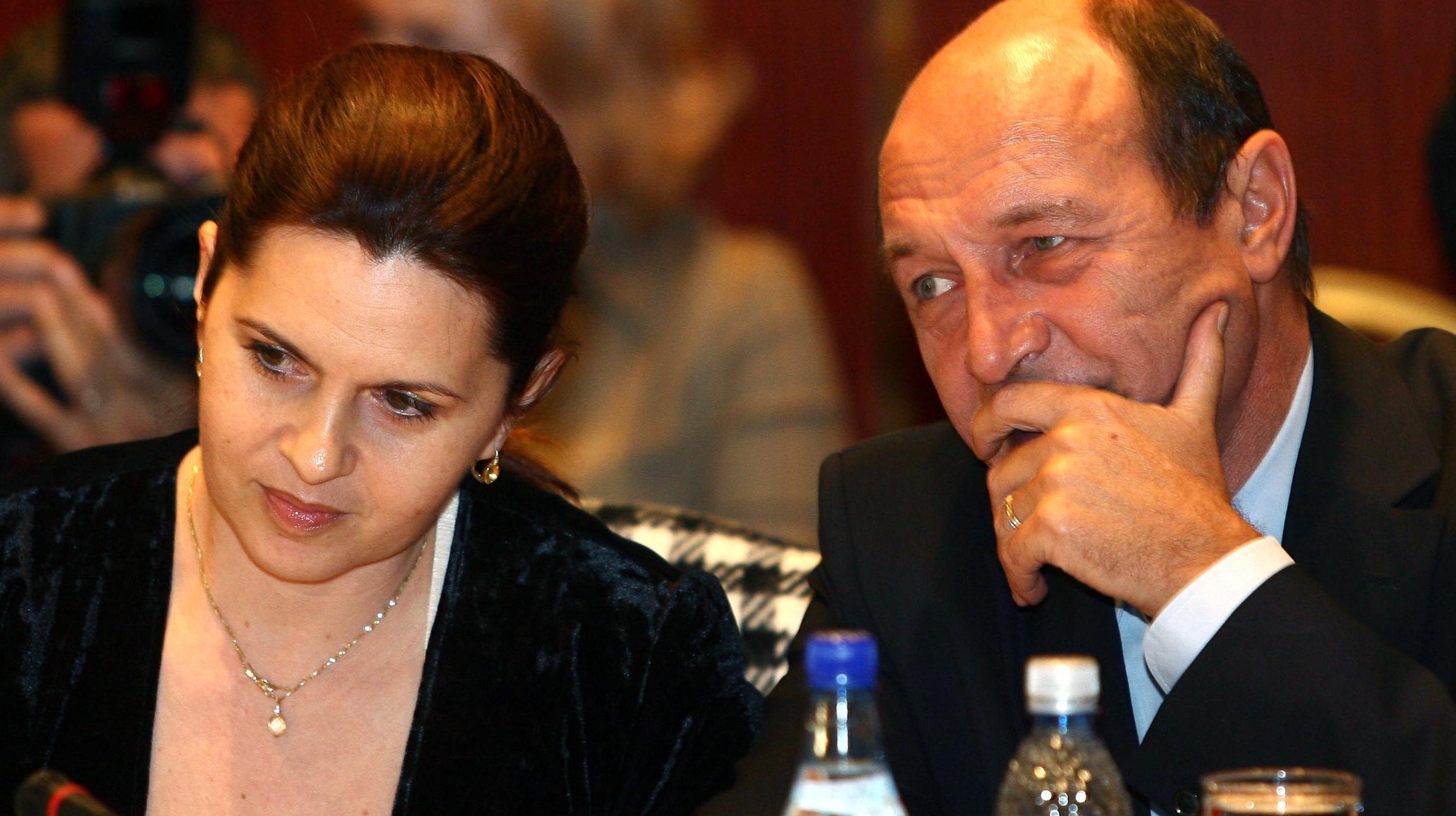 Adriana Săftoiu şi Traian Băsescu