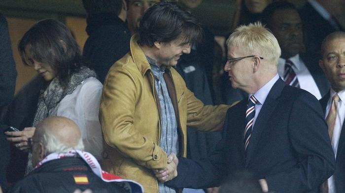 Tom, cu preşedintele lui Rangers