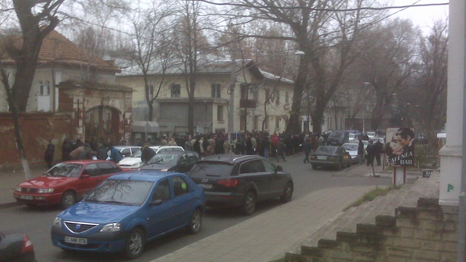 Secţie de votare din Chişinău