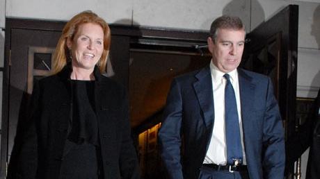 Prinţul Andrew şi fosta sa soţie, Sarah Ferguson