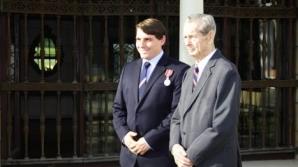Principele Nicolae şi Regele Mihai, la Palatul Elisabeta
