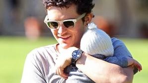 Orlando Bloom şi fiul său, Flynn / FOTO: INFphoto.com