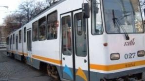 Un tramvai 41 a deraiat în Capitală