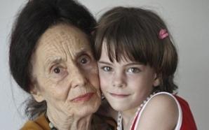 Adriana Iliescu şi fiica sa, Eliza