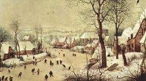 Peisaj de iarna cu o capcană pentru păsări - de Pieter Bruegel (Ţările de Jos)