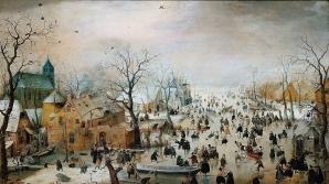 Peisaj de iarnă cu patinatori - de Hendrick Avercamp (Ţările de Jos)