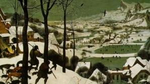 Vânatori în zăpadă - de Pieter Bruegel cel Bătrân (Ţările de Jos)