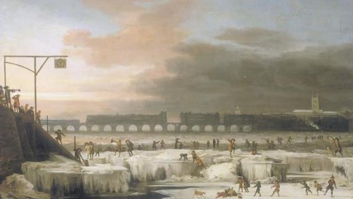 Tamisa îngheţată - de Abraham Hondius