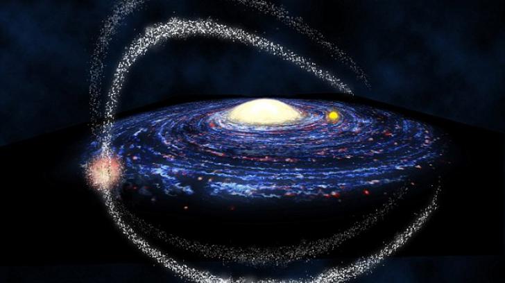 Calea Lactee devorează galaxii mai mici