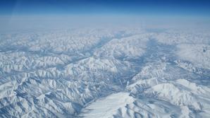 Siberia, de la 10.000 de metri. Alb peste tot