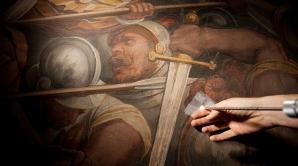 Oamenii de ştiinţă au introdus o sondă endoscopică prin zidul pictat de Giorgio Vasari