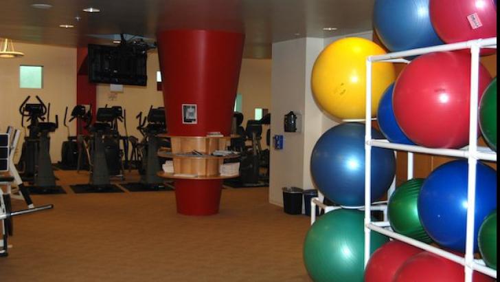 Sala de fitness de la sediul You Tube