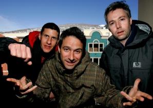 Beastie Boys, cu Adam Yauch în dreapta