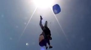 Un salt cu paraşuta s-a transformat într-un coşmar