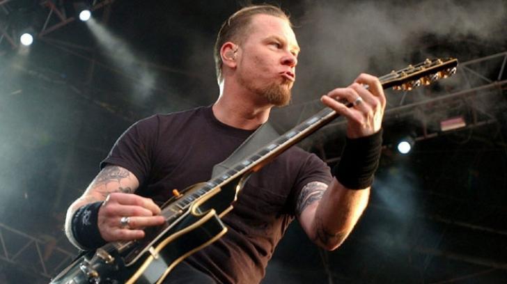 <p>James Hetfield, solistul trupei Metallica</p>
