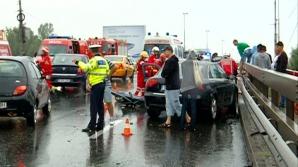 Accident în lanţ pe DN1