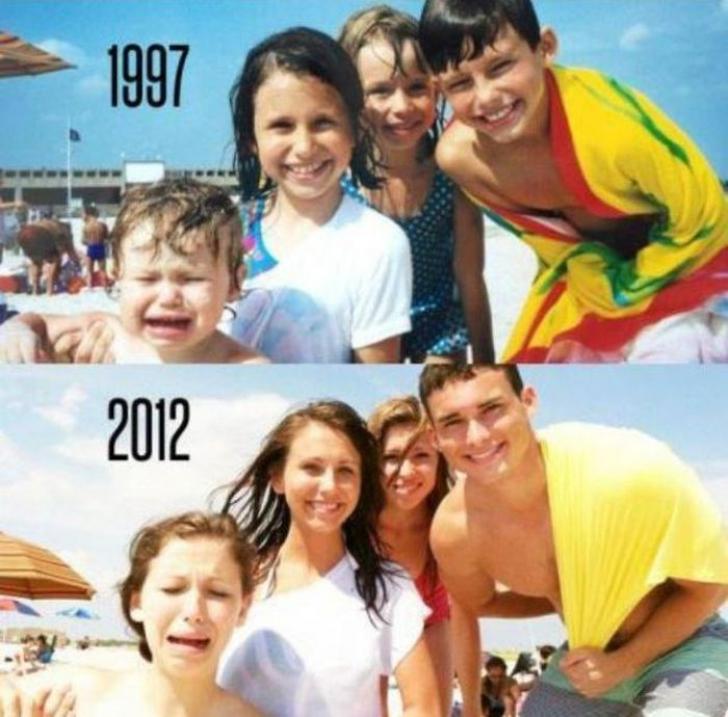 Atunci şi acum. S-au reîntors după ani buni să-şi refacă FOTOGRAFIILE