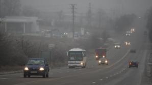 Ceaţă densă în multe zone