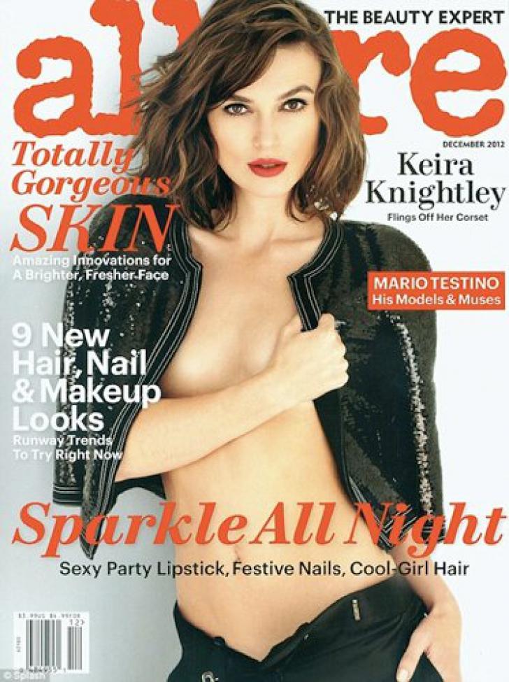 Keira Knightley - mutilată în Photoshop pe coperta Allure