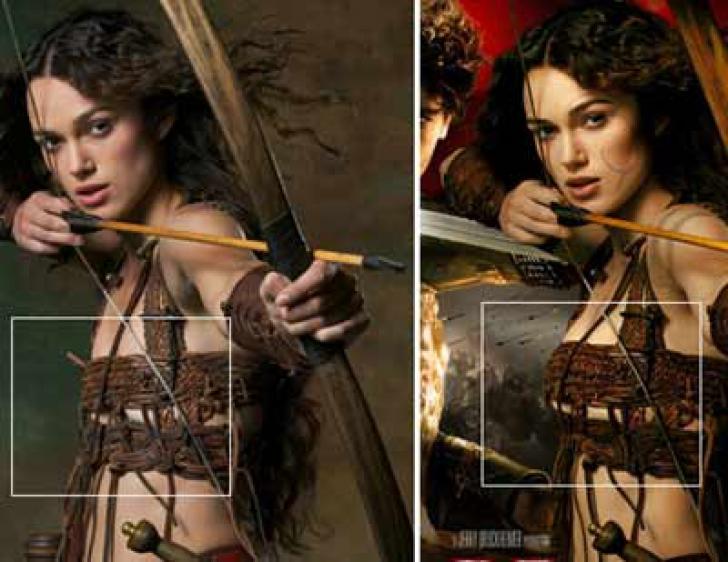 Keira Knightley - foste GAFE Photoshop