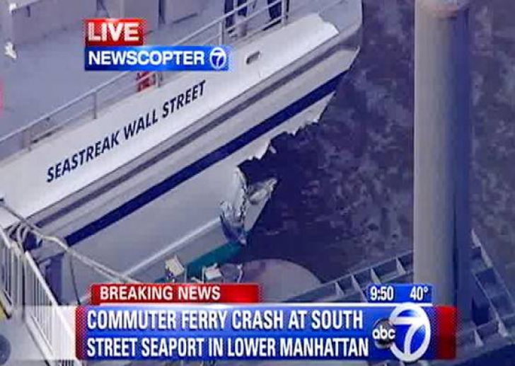 Accident de feribot in New York