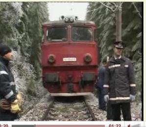 Trenuri blocate de o alunecare de teren