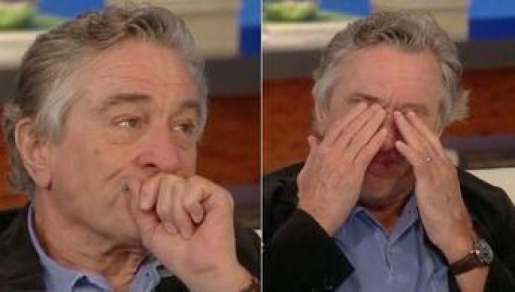 Robert De Niro plânge în direct la tv