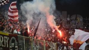 Incidente între suporteri la derbiul Rapid - Dinamo