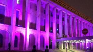 Palatul Victoria, iluminat în mov de Purple Day