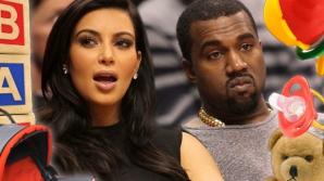 <p>Kim Kardashian şi Kanye West</p>