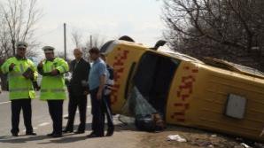 Accident pe DN 1, opt copii au ajuns la spital