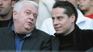 Andrei Hrebenciuc, alături de tatăl său, Viorel Hrebenciuc