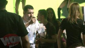 Gabi Torje şi Iulia Pârlea, într-un club din Bucureşti