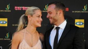 Oscar Pistorius, alături deReeva Steenkamp