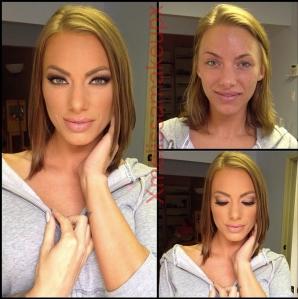 Actrițe porno înainte și după machiaj
