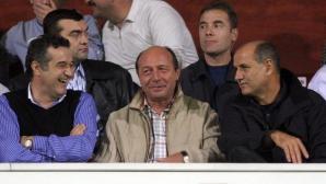 Traian Băsescu, între Gigi Becali şi George Copos