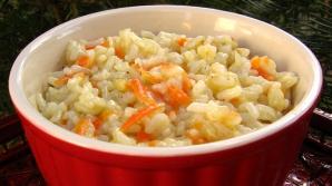 Pilaf de orez cu morcovi