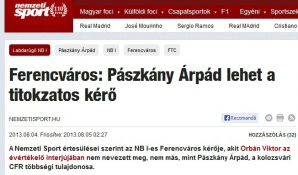 Arpad Paszkany, anunţat ca noul patron al lui Ferencvaros