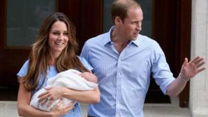 Kate Middleton, Prinţul William şi Prinţul George, primul lor fiu