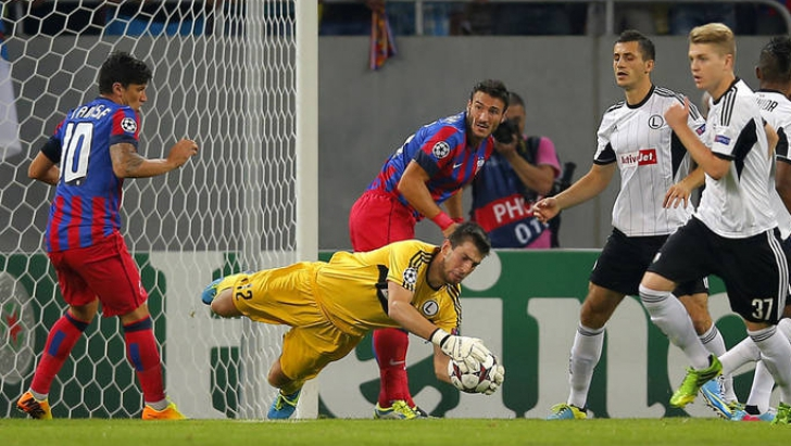 Steaua-Legia, 1-1 în tur