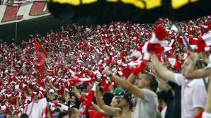 DINAMO-OȚELUL. Suporterii dinamovişti au scandat împotriva lui Dumitru Dragomir