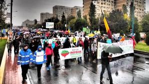 BUCUREŞTI. Marş de protest împotriva exploatării miniere de la Roşia Montană FOTO: Daniel Vrăbioiu/Rosia Montana in UNESCO World Heritage