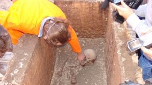 Un sarcofag vechi de 1800 de ani a fost descoperit la Alba Iulia