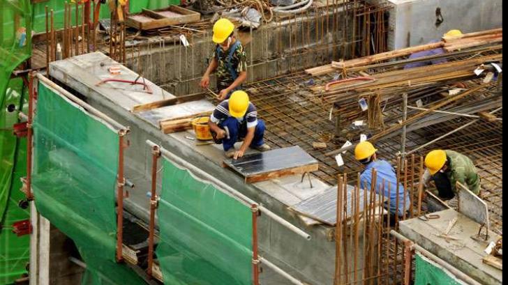 <p>Cea mai mare scădere în lucrările de construcţii</p>