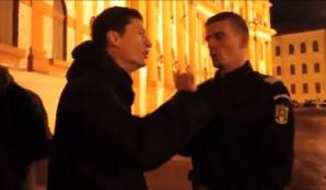 Discuţii aprinse între protestatari şi jandarmi la Braşov