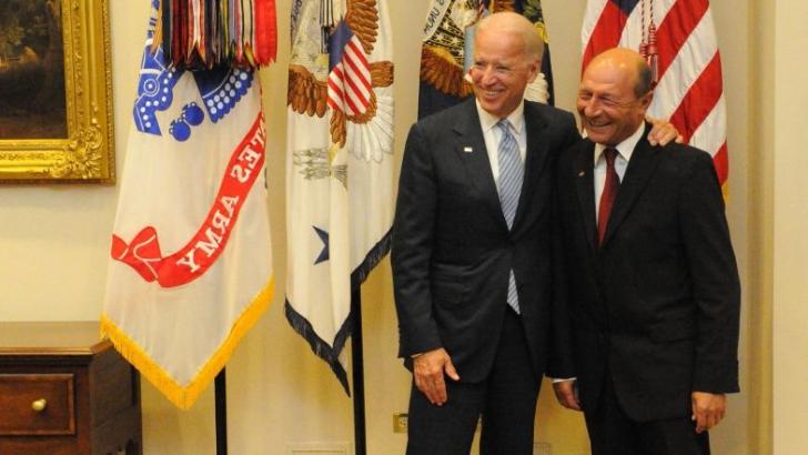 Traian Băsescu şi Joe Biden, la ultima lor întâlnire